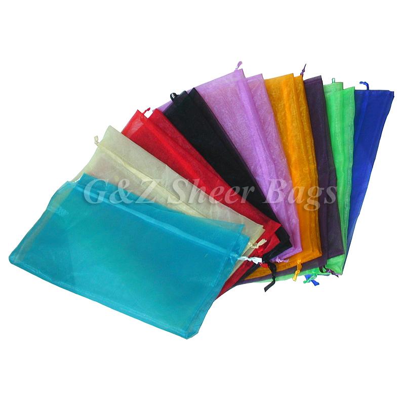 """Click to enlarge · Giftbag - Large Drawstring Sheer Organza Gift Bags 17""""x17"""" ..."""